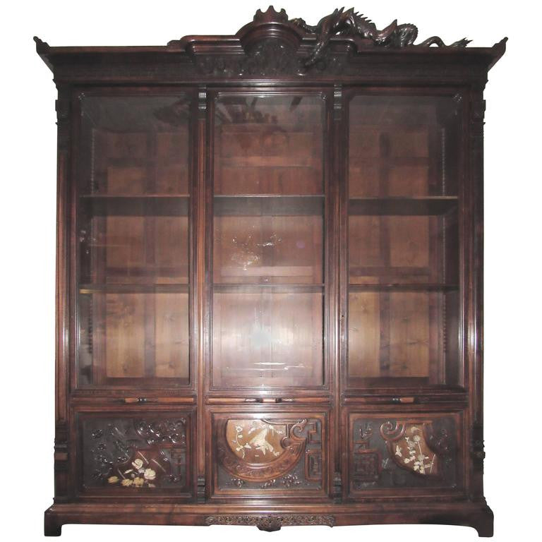 Gabriel Viardot, France, Chinoiserie Collection Cabinet, circa 1880