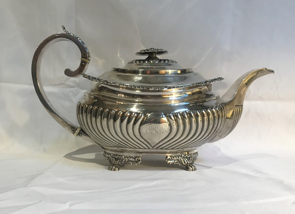 Georgian Period English Sterling Silver Teapot. London 1817. Houghan, Royes, Dix