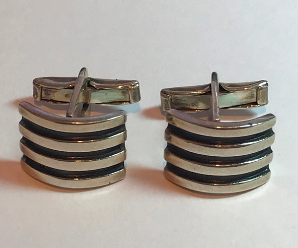 Pair of Vintage Sterling Silver Cuff Links.