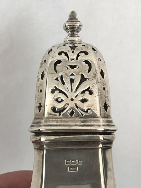 "English Sterling Silver Sugar Caster.Sheffield 1917. 6-3/4"" Height."