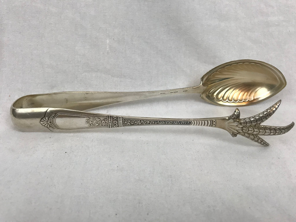 Gorham Sterling Silver Chicken or Large Ice Tongs. Domestic Pattern. Claw. 9.25""