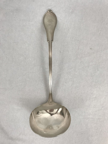 Large Soup Ladle. Gorham Sterling Silver in the Norfolk Pattern. 12-3/4""