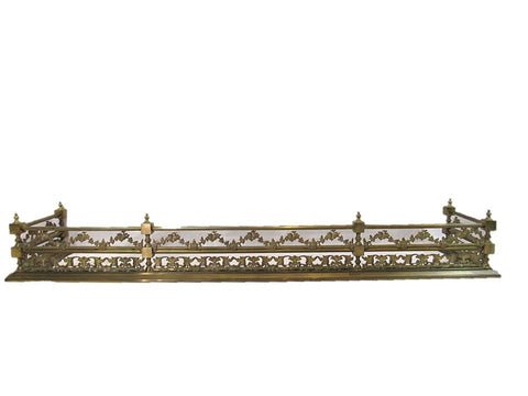 French 19th century brass fireplace fender