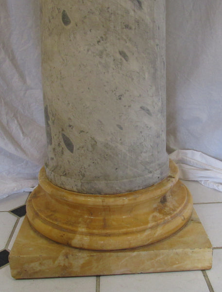 "Pietro Piraino (1878-1950) Italian Marble Carving on Pedestal. Art Deco. 66"" total height"