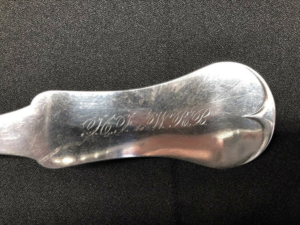 Edward and David Kinsey (E & D). Cincinnati Ohio American Coin Silver Ladle