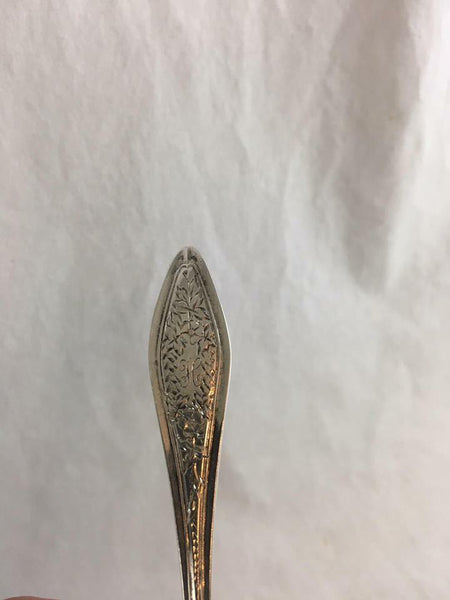 Towle Olive Serving Spoon Mary Chilton No.1 Engraved 1912