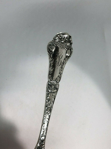 "Gorham Sterling Silver Serving Fork, Poppy Pattern. 8.75"" Length"
