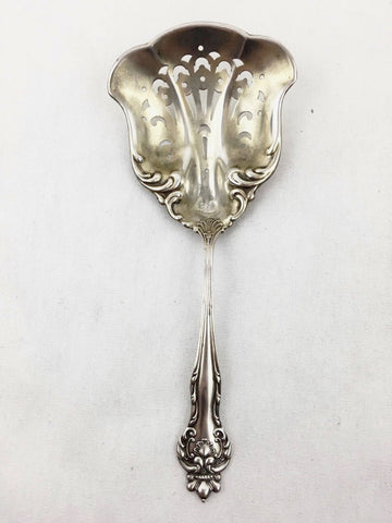 Beautiful Pierced Nut/ Bon Bon Spoon. American Sterling Silver. Howard Co. Pat 1
