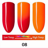 Gel Nail Polish with Temperature Changing Color.