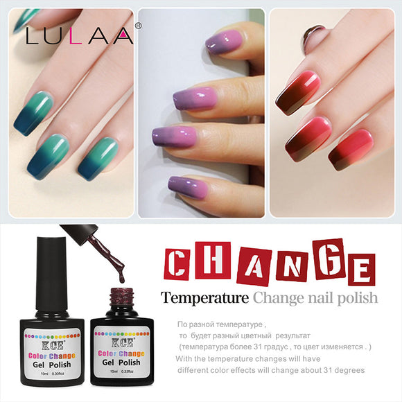 Nail Polish,Colors Nail Polish that has Temperature Change UV Gel Nails - Snapup247