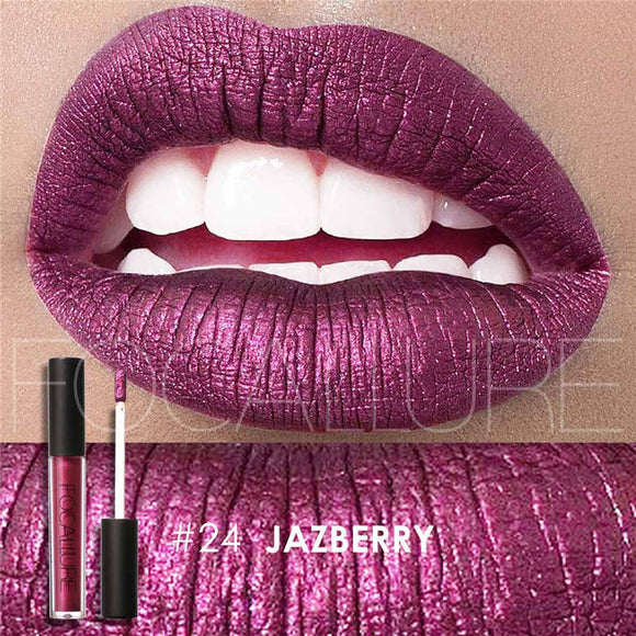 Lipstick,Focallure Long Lasting Liquid Lipstick Moisturizer in Metallic or Matte - Snapup247