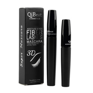 Qibest 3D Mascara Transplanting Gel+Natural Fiber Brush Eyelash