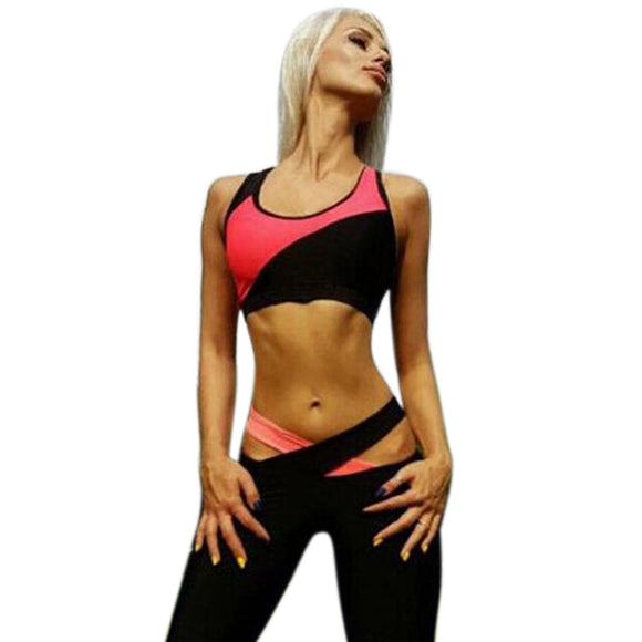 Yoga Gear,Women Sleeveless Sports Yoga Workout Fitness Leggings - Snapup247