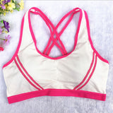 Yoga Gear,Women Yoga Fitness Stretch Workout Tank Top Seamless Racerback Padded Sports Bra - Snapup247