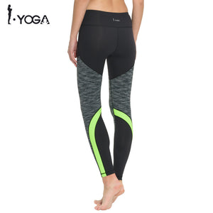 Yoga Gear,Women Leggings Fitness Sport High Waist Power Stretchy Mesh Patchwork Yoga Pants Running Gym Tights Workout Trousers for Women - Snapup247