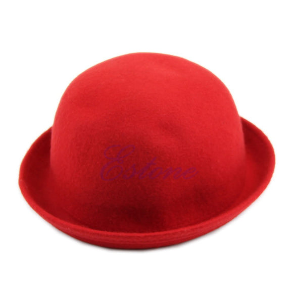 Hats,Fashion 2017 New Hot Vintage Women Lady Cute Trendy Wool Felt Bowler Derby Hat Cap Winter Warm Hat Solid 4 colors - Snapup247