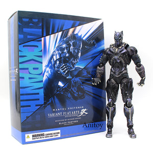 ,Variant Paly Arts KAI Marvel Universe Black Panther PVC Action Figure Collectible Model Toy 26cm - Snapup247