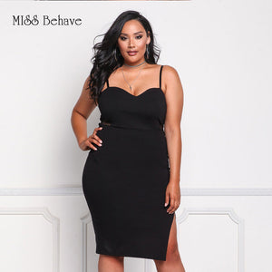 Dress,VITIANA Women Plus Big Size Sexy Short Party Dress Female Summer Black White Sleeveless Backless Bodycon Fit Club Casual Dresses - Snapup247