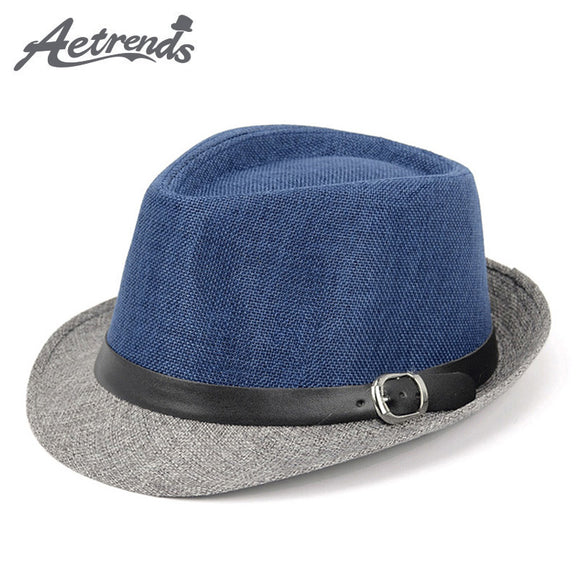 Hats,[AETRENDS] 2017 New Men's  Jazz Hat Panama Cap Fedoras Hats Z-5310 - Snapup247