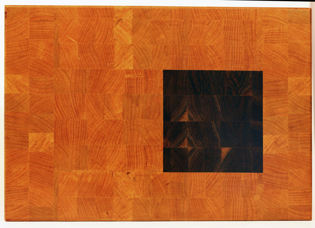 End grain cutting board - Square - Artist Series 1 - 18x12-1/2x1-1/4 in.