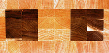 End grain cutting board - Two Squares - Artist Series 1 - 12x11-1/4x1-1/2 in.