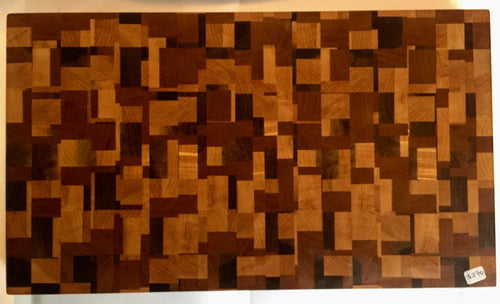 End grain cutting board - Mildly Loco - Artist Series 1 - 13-1/2x16x1-1/2 in.