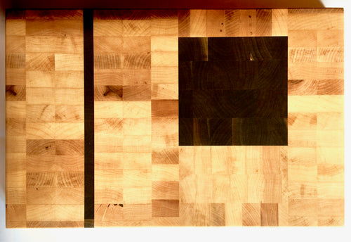 End grain cutting board - Black Fire 2 - Artist Series 1 - 16x13x1-1/2 in.