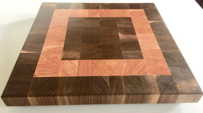 End grain cutting board - Square over square - Artist Series 1 - 13x13x1-1/2 in.