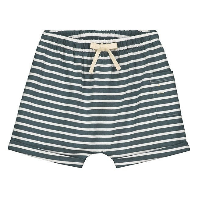 Organic Striped Shorts
