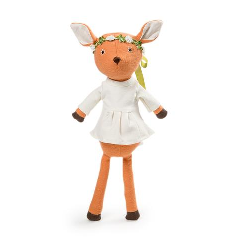 Hazel Village Phoebe Fawn in Organic Cotton Tunic and Flower Crown