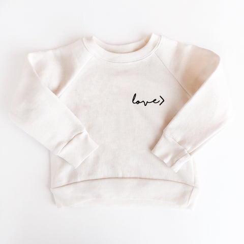 Organic Cotton LOVE> Raglan Sweater