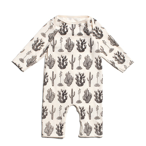 Winter Water Factory Organic Cotton Cactus Romper
