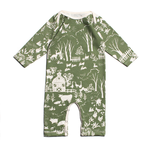 Winter Water Factory Organic Cotton The Farm Next Door Romper