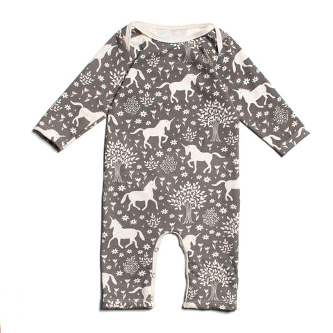 Winter Water Factory Organic Cotton Magical Forest Romper