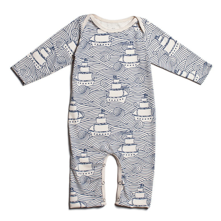 Winter Water Factory Organic Cotton High Seas Romper