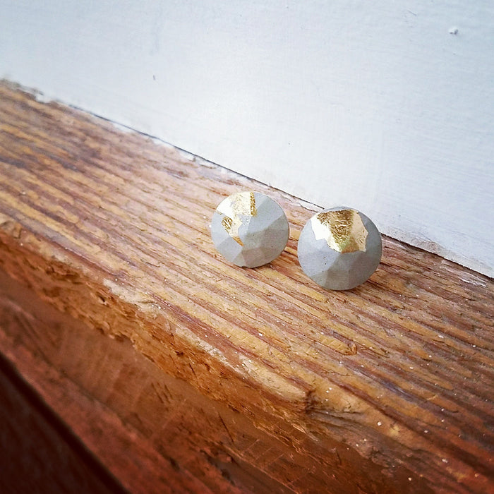 gold/concrete earrings 4