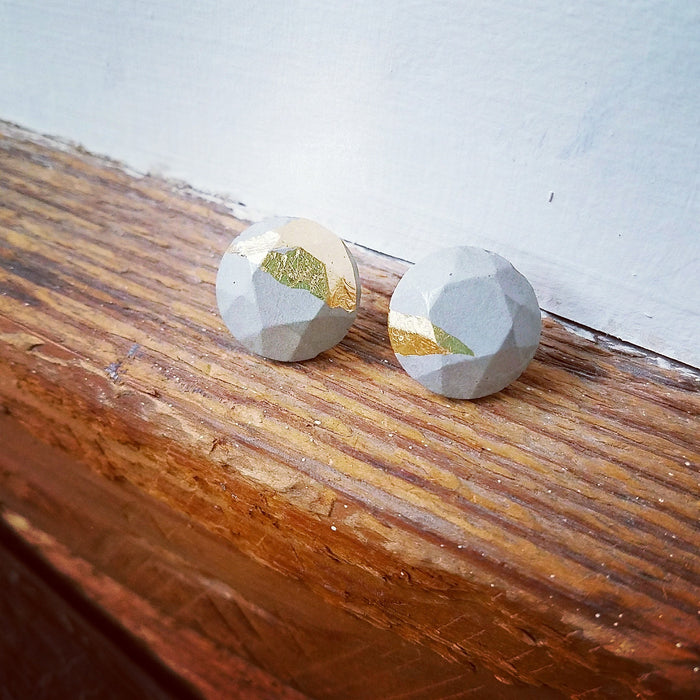 gold/concrete earrings 5