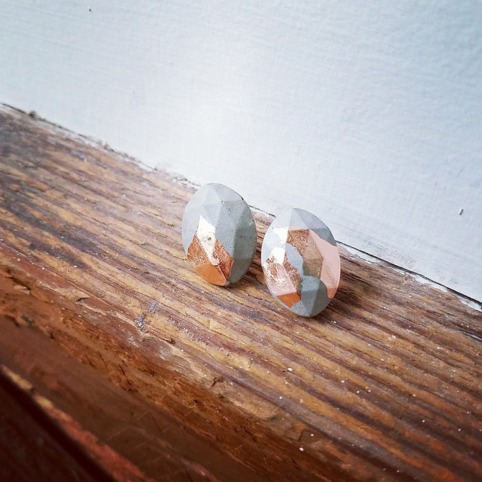 copper/concrete earrings 3