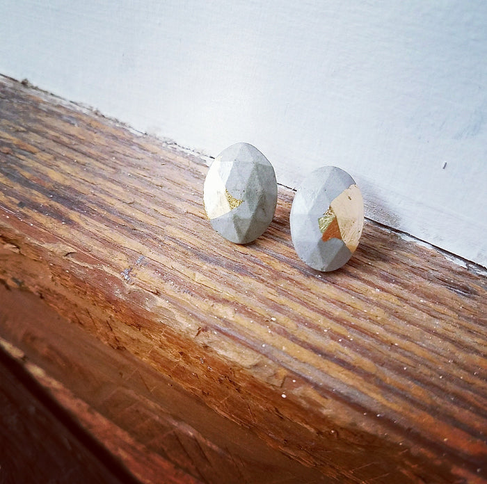gold/concrete earrings 3