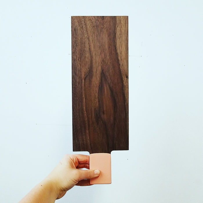 moderate tray: walnut/blush