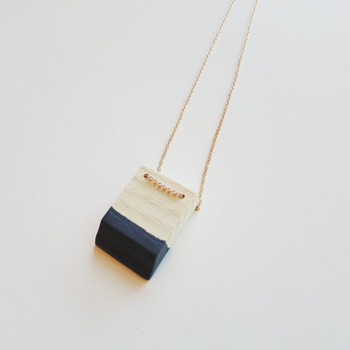necklace: bleached ash/ink