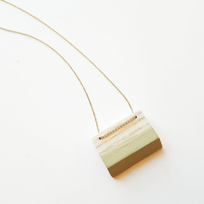 necklace: bleached ash/sage