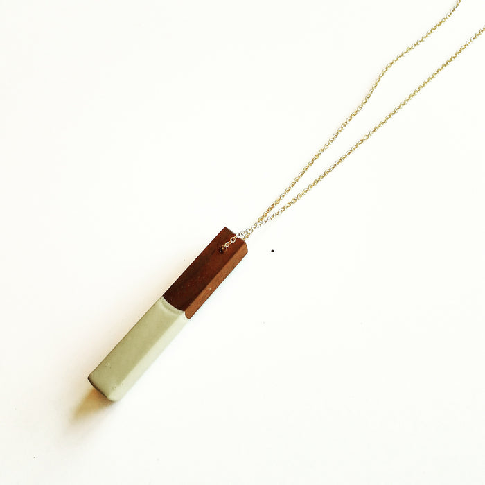 necklace: walnut/sage