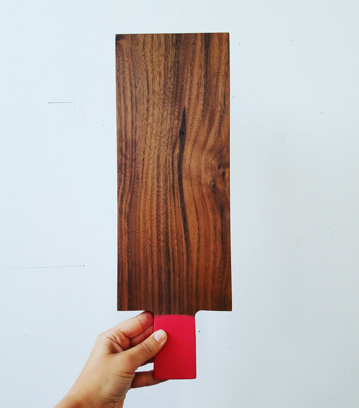 moderate tray: walnut/red