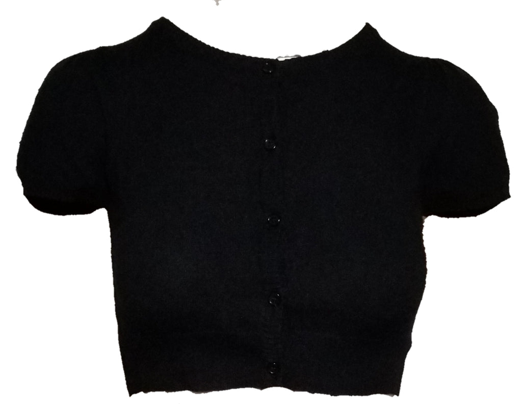 Cardigan short sleeve black - Rockin Bettie