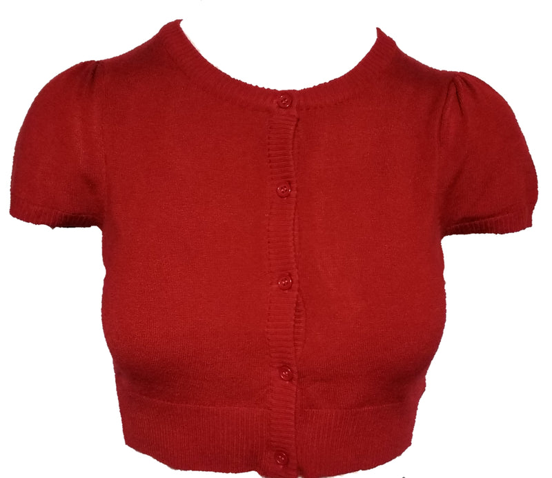 Cardigan short sleeve red - Rockin Bettie