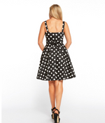 Black polka dot aline - Rockin Bettie
