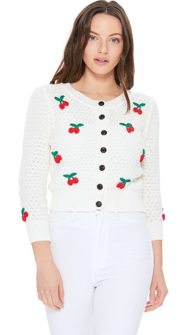 Cherry bomba cardigan