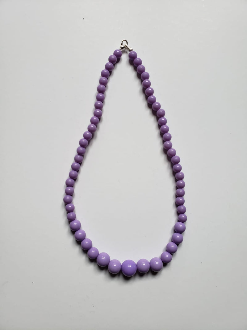 All colors pearl bead necklace - Rockin Bettie