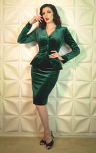 Victory Set Green velvet 2 piece